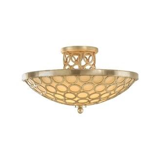 Corbett Lighting Bangle 3-light Semi-flush