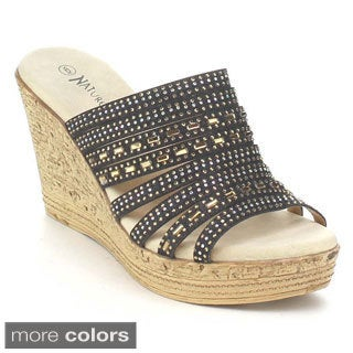 Nature Breeze Women's Warrant-01 Rhinestone Wedges