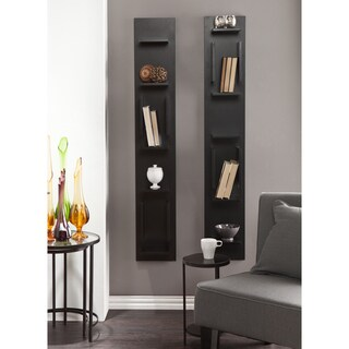 Holly and Martin 2-piece Hangz Anyway Black Shelf