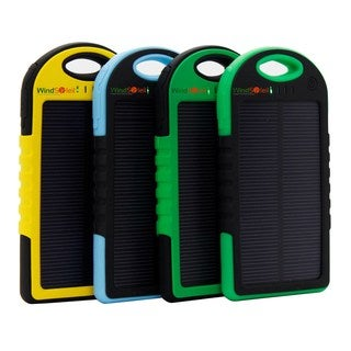 WindSoleil 'Utu' Solar Power 5000mAh Portable Battery Bank Charger