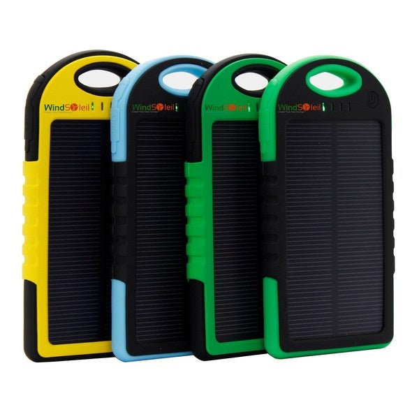 WindSoleil 'Utu' Solar Power 5000mAh Portable Battery Bank Charger