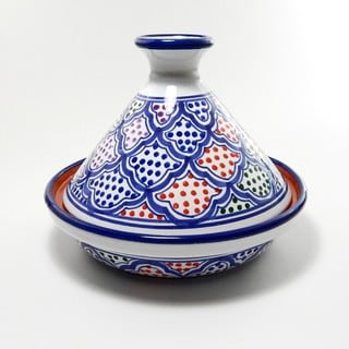 Honeycomb Blanqa Design Ceramic 9-inch Cookable Tagine (Tunisia)