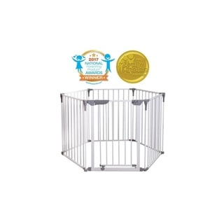 Dreambaby Royale 3-in-1 Converta Play-Yard, Fireplace, and Wide Barrier Gate - White