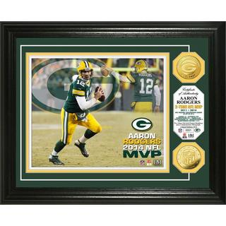 Aaron Rodgers 2014 NFL MVP Gold Coin Photo Mint