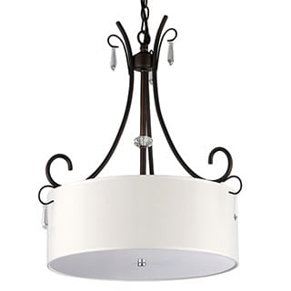 Arabella 4-light Fresh Snow Drumshade Chandelier