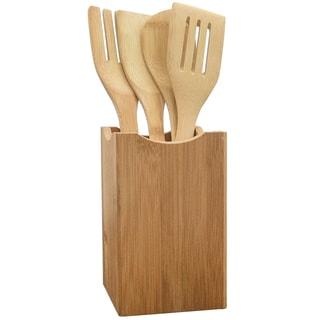 KitchenWorthy 5-piece Bamboo Utensil Set (Case of 12 Sets)