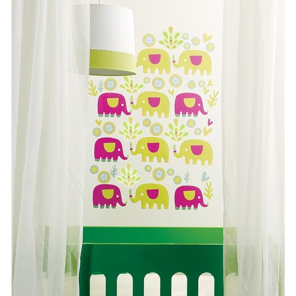 Wallies Elephants Wall Decal