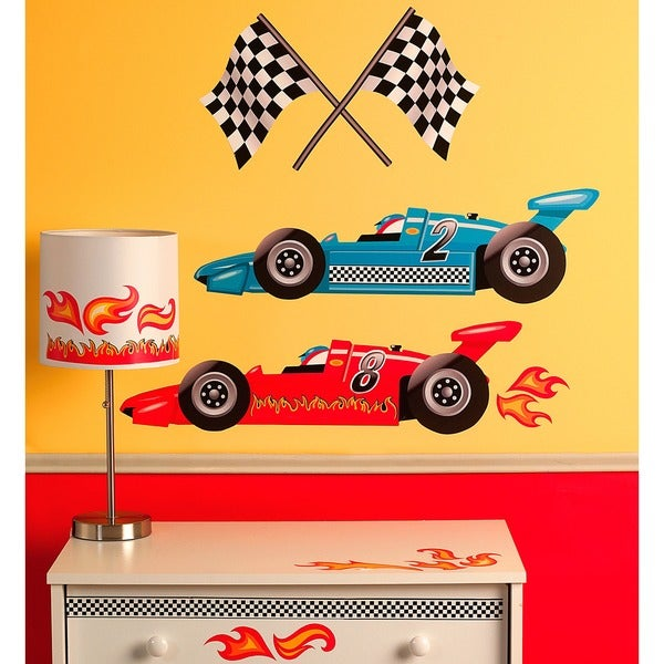 Wallies Grand Prix Racing Wall Decal