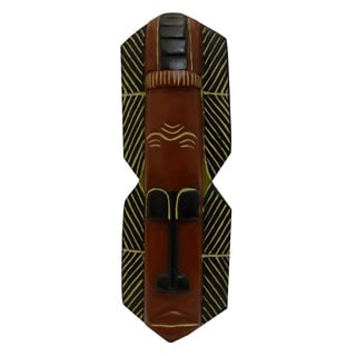 Sese Wood Ahomka Good Spirit Mask (Ghana)