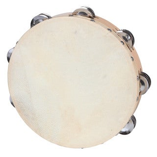 10-inch Maple Calf Skin Head 16-jingle Tambourine