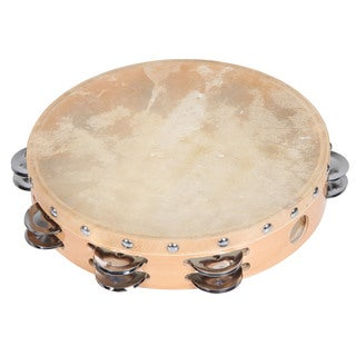 10-inch Calf Skin Head 18-jingle Maple Tambourine