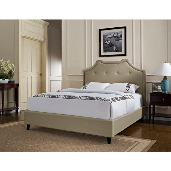 Powell Crown Button Tufted King-size Headboard