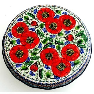 Polish Stoneware Love Blossoms Cake Stand (Poland)
