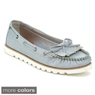 Nature Breeze Boardwalk-01 Women's Lovely Lace Trim Slip-on Loafers