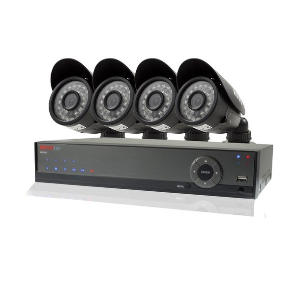 Revo Lite 4-channel 500GB 960H DVR Surveillance System with 4 700TVL Bullet Cameras