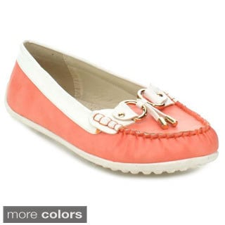 Nature Breeze Yacht-1 Women's Two-tone Stitched Penny Loafers