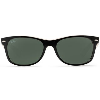 Ray Ban Sunglasses New Wayfarer RB2132 - 875 Top Black On Beige/G-15XLT Lens - 55mm