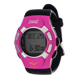 Everlast HR1 Finger Touch Heart Rate Monitor Pink Bezel Sport Digital Watch