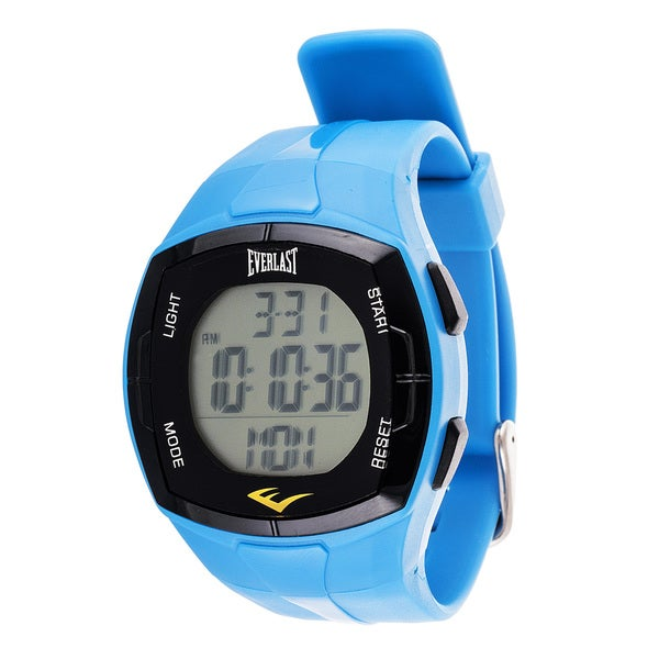 Everlast Men's HR2 Blue Heart Rate Monitor Digital Sport Watch with Chest Strap