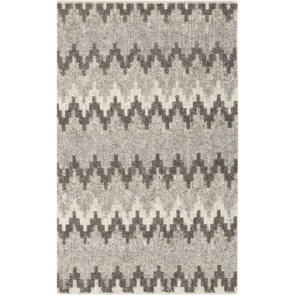 Hand-Woven Sammy Chevron Wool Rug (5' x 7'6)