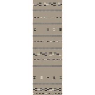 Hand-Woven Sasha Nature Reversible Rug (2'6 x 8')
