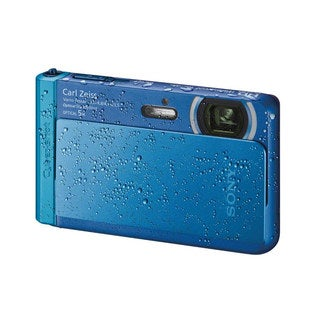 Sony Cyber Shot DSC-TX30 Waterproof 18.2MP Blue Digital Camera