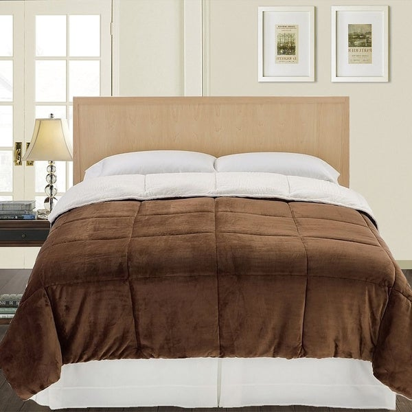 Sonoma Twin-size Reversible Micromink and Sherpa Down-alternative Fill Comforter Set