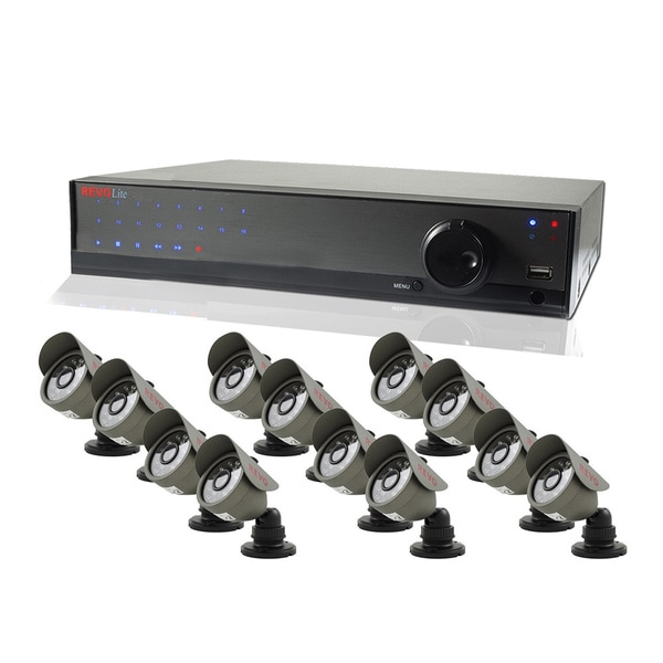 Revo Lite 16-channel 1TB DVR Surveillance System with 12 450TVL Bullet Cameras