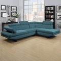 Portfolio Fontaine Caribbean Blue Linen 2 Piece Sectional