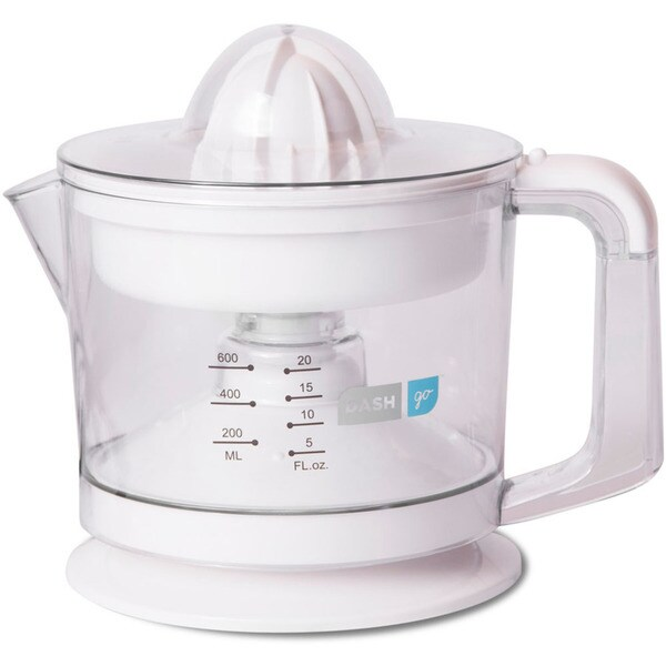 Dash JB065WH White Go Dual Citrus Juicer