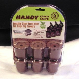 Handy Cups Reusable K-cups for Keurig Machines (Pack of 6)
