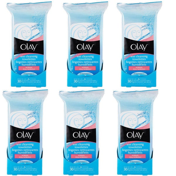 Olay Wet Cleansing Cloths 30-count (Pack of 6)
