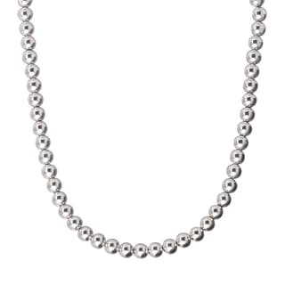 Karizia Sterling Silver 6 mm Bead Necklace