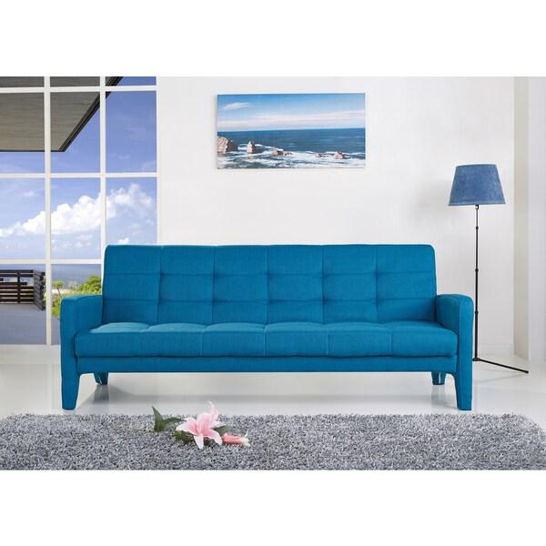 ABBYSON LIVING Florence Blue Fabric Sleeper Sofa