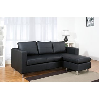 ABBYSON LIVING Bella Black Leather Sectional