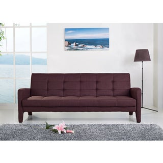ABBYSON LIVING Florence Brown Fabric Sleeper Sofa