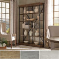 INSPIRE Q Barnstone Cornice Double Shelving Bookcase
