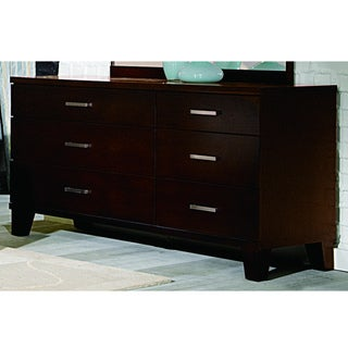 Evianna Dark Spice Brown 6-drawer Dresser