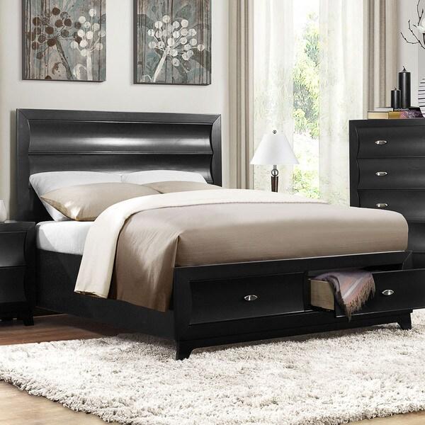 Akeela Contemporary Black or White Platform 2-drawer Storage Bed