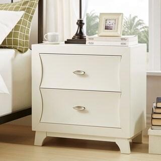 Akeela Contemporary Black or White 2-drawer Nightstand