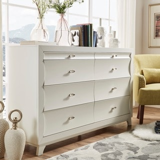 Akeela Contemporary Black or White 8-drawer Dresser