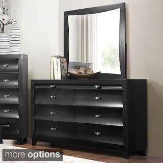 Akeela Contemporary Black or White 8-drawer Dresser with Mirror