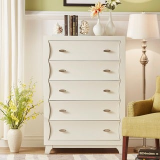 Akeela Contemporary Black or White 5-drawer Chest