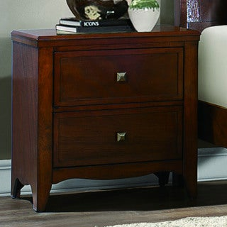 Wynter Classic Mahogany Oak 2- drawer Night Stand