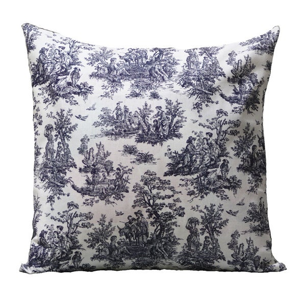 Taylor Marie Blue Toile Cushion Cover
