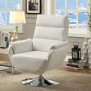 Furniture of America Elina Contemporary Leatherette Swivel Chair