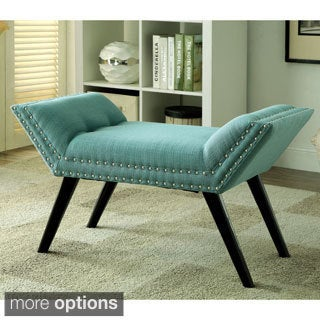 Furniture of America Dawne Modern Angled Bench