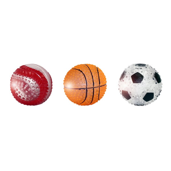 Multipet TPR 3-inch Sports Ball Dog Toy