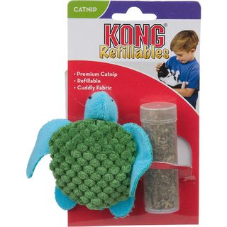 KONG 3-inch Refillable Sea Turtle Catnip Cat Toy