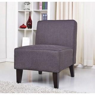 ABBYSON LIVING Becca Grey Linen Chair